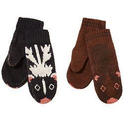 Recycled Cotton Animal Mittens