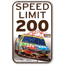 Kyle Busch NASCAR Traffic Sign