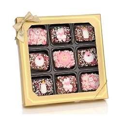 Baby Girl Chocolate Dipped Krispiex Box