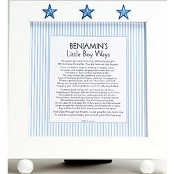 Personalized Little Boy Ways Framed Plaque
