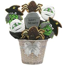 Happy Halloween Creepy Cookie Bouquet