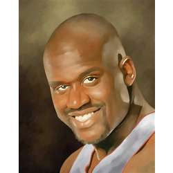 Shaquille O'Neal Oil Painting Art Print