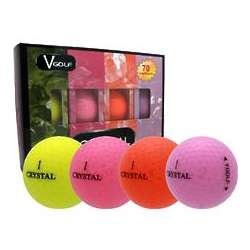Multi-Color Crystal Golf Balls