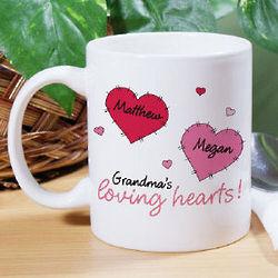 Loving Hearts Valentine Coffee Mug