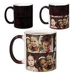 Personalized Five Photo Color Changing Mug