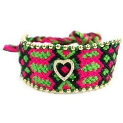 Knitted Hippie Heart Bracelet