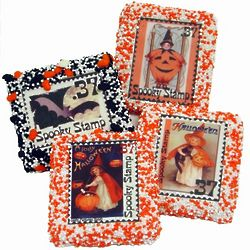 Spooky Stamps Chocolate Covered Cookies