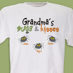 Bugs and Kisses Personalized Halloween T-Shirt