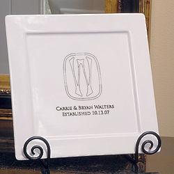 Personalized Initial Decorative Platter