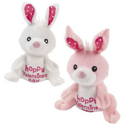 Plush Hoppy Valentine's Day Bunnies
