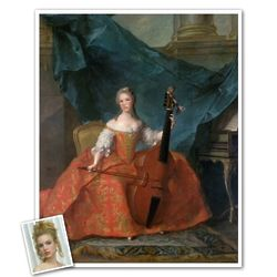 Classic Painting Madame Henriette Personalized Print