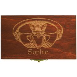 Personalized Claddagh Linden Wood Box