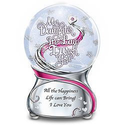 My Daughter-in-Law Musical Glitter Globe with Swarovski Crystal