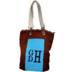 Monogrammed Canvas Handbag