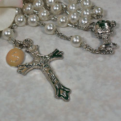 Personalized First Communion Pearl Rosary