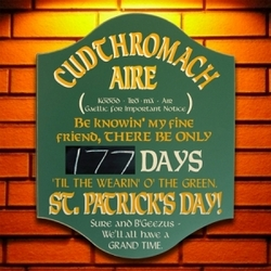 Saint Patrick Countdown Irish Pub Sign