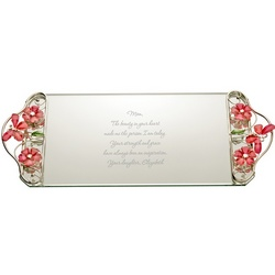 Pink Jewel Personalized Vanity Tray