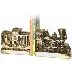 Train and Caboose Brass Bookends