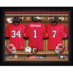 Georgia Bulldogs College Football Locker Room Print