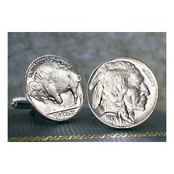 Buffalo Nickel Cuff Links