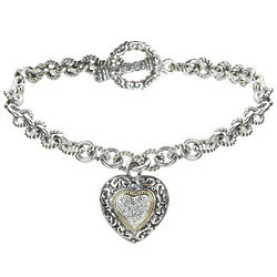 Balissima Diamond Bracelet in Sterling Silver and 18k Gold