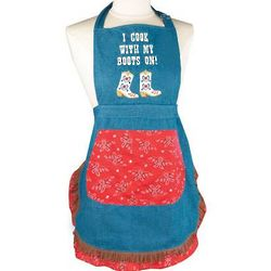 I Cook with My Boots On Apron