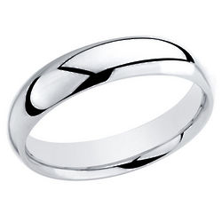 Sterling Silver Men's Comfort Fit Wedding Band