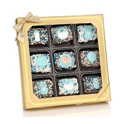 Baby Boy Chocolate Dipped Krispies Box