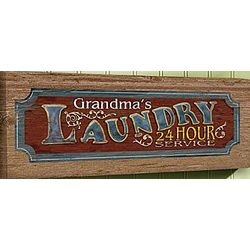 Personalized Laundry Service Canvas Sign