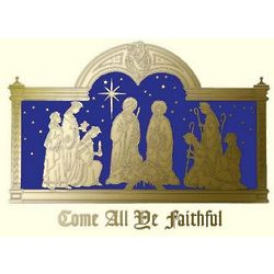 MOAA Embossed Religious Christmas Card