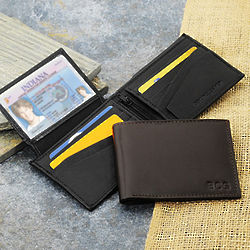 Personalized Kensington Bi-fold Genuine Leather Wallet