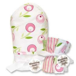 Baby's Tulip Hooded Towel and Washcloth Bouquet Set