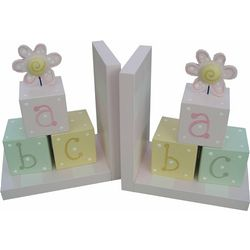 ABC Wooden Bookends for Girl