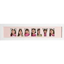Pink Personalized Name Frame Photo Collage