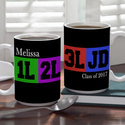 Law Student's Personalized Large Coffee Mug