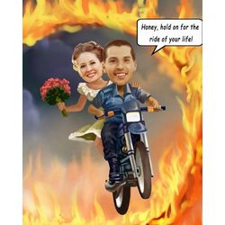 Ring of Fire Caricature Art Print