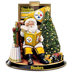 Pittsburgh Steelers Talking Santa Claus Tabletop Centerpiece
