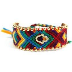 Knitted Hippie Hamsa Bracelet