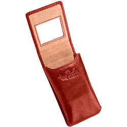 Cognac Leather Double Lipstick Case