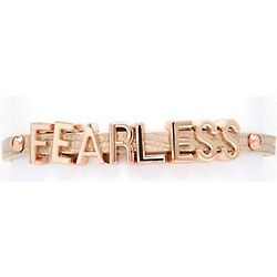 Fearless Tan Affirmation Bracelet