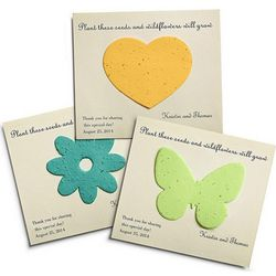Personalized Plantable Wedding Favor Cards