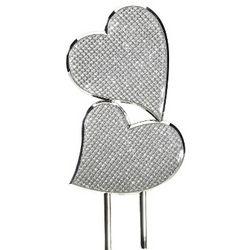 Glitter Galore Engravable Hearts Cake Topper