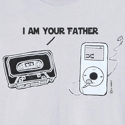 I Am Your Father Tape Player T-Shirt