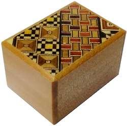 2 Sun 10 Steps Yosegi & Natural Wood Japanese Puzzle Box