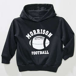 Personalized Black Youth Sports Hoodie