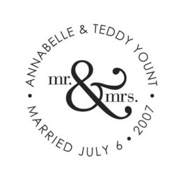 Mr. & Mrs. Self-Inking Stamper