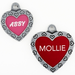 Designer Collection Personalized Heart ID Tags
