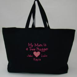 Tree Hugger Personalized Jumbo Grocery Tote