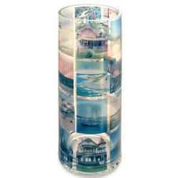 Custom Round Memory Vase