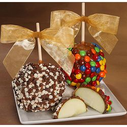 Rainbow and Triple Chip Candy Apples